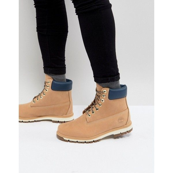 Timberland Radford Lite 6 Inch Nubuck Boots (840 BRL) ❤ liked on Polyvore featuring men's fashion, men's shoes, men's boots, men's work boots, beige, mens low cut work boots, mens waterproof work boots, timberland mens boots, mens waterproof boots and mens lace up work boots