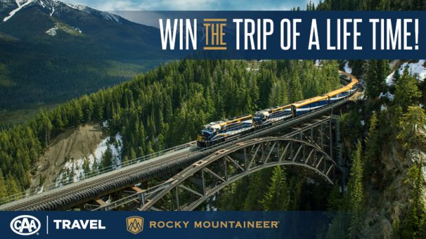 Enter the CTV News and CAA Travel's Rocky Mountaineer Great Train Escape Contest for your chance to win a trip for two to a Rocky Mountaineer rail journey and more.