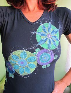 Monikin svet: Maľované tričko Kruhy na vode