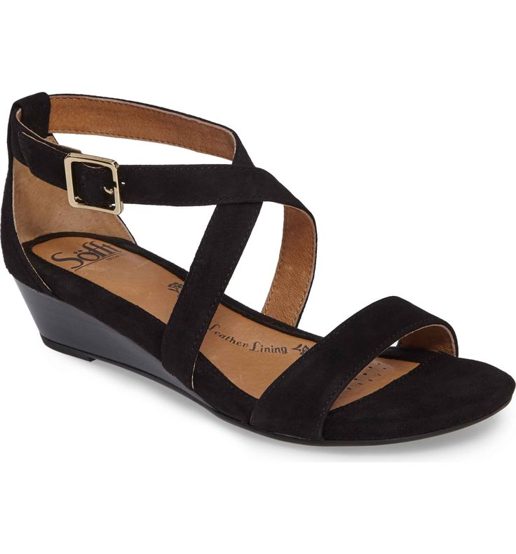 Main Image - Söfft 'Innis' Low Wedge Sandal (Women)