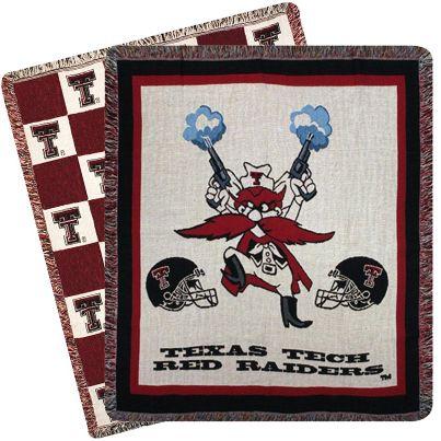 GIFT ITEM: Cozy up in a warm Texas Tech Red Raiders throw blanket: http://www.rallyhouse.com/ncaa-texas-tech-red-raiders-bedroom-bathroom-bedding-blankets?utm_source=pinterest&utm_medium=social&utm_campaign=Pinterest-TexasTechRedRaiders