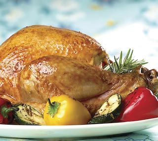 Whole Barbecued Turkey: Here's a delicious way to cook a small turkey outdoors.