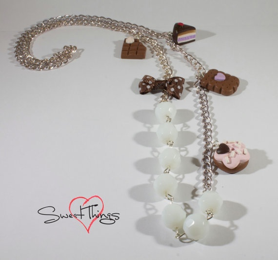 Sweet Necklace di SweetThingsFimo su Etsy, €16.00