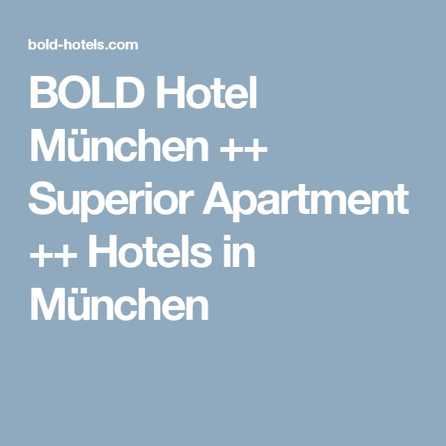 Cool BOLD Hotel M nchen Superior Apartment Hotels in M nchen