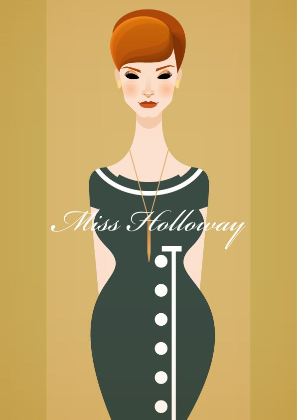 Mad Men Vector ArtJoan Holloway, Men Vector, Madmen, Illustration, Style Icons, Vector Artworks, Mad Men, Stanley Chow, Design