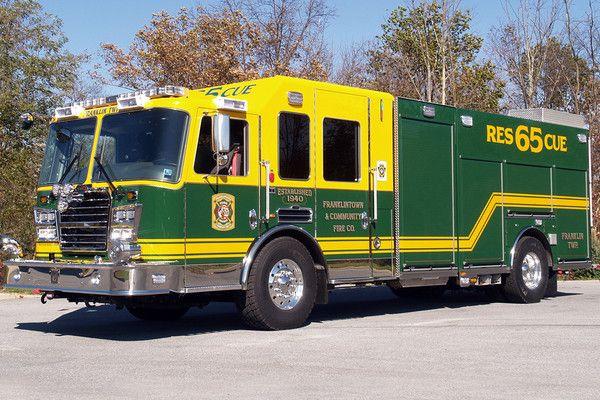 KME Fire Apparatus pumper Franklintown, Pa.