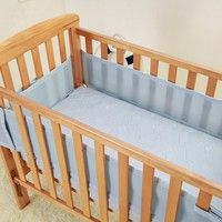 Wish | Brand Breathable Mesh Crib Bumpers 3 Layer Crib Liner Baby Bed Around Protector  3 Color