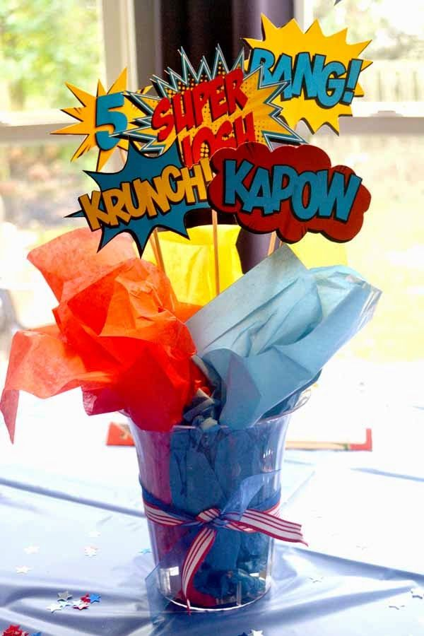 A-Manda Creation: Superhero themed birthday party and matching printables with a free printable too!