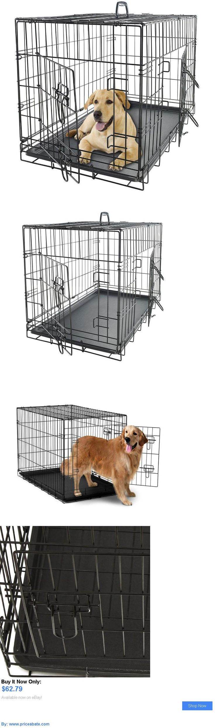 Animals Dog: Xxl Dog Crate And Kennels For Extra Large Dogs Pet 48 Folding Metal 2-Door Cats BUY IT NOW ONLY: $62.79 #priceabateAnimalsDog OR #priceabate