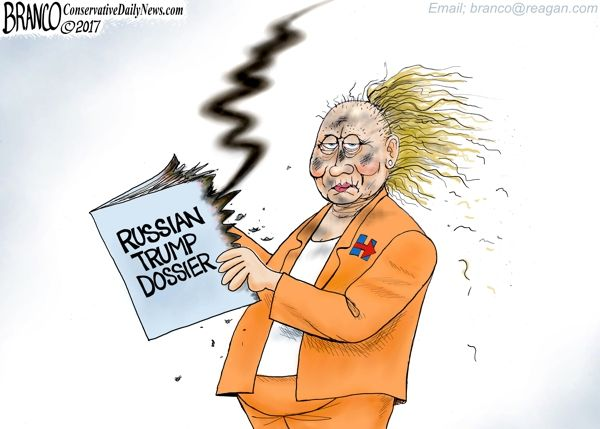 The Russian Trump Dossier of fabricated salacious material designed to destroy Trump has blown up in Hillary's Face. Cartoon by A.F. Branco ©2017.  See more Conservative Daily News cartoons here  A.F.Branco 2018 Calendar <—- Order Here!  Donations/Tips accepted and appreciated –  $1.00 – $5.00 – $10 – $100 –  it all helps to fund this website and keep the cartoons coming. – THANK YOU!  Read more at http://comicallyincorrect.com/2017/10/27/phony-russian-trump-dossier/#HQhiVeBVMEvtjHHi.99