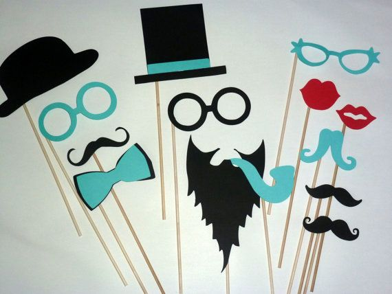 DIY 14 Photo Booth Props Photobooth prop - On a Stick - Mustache Moustache Party on Etsy, $14.00