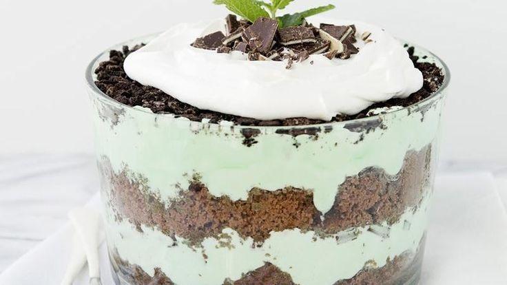 ... crème de menthe-marshmallow crème filling and minty crushed candies