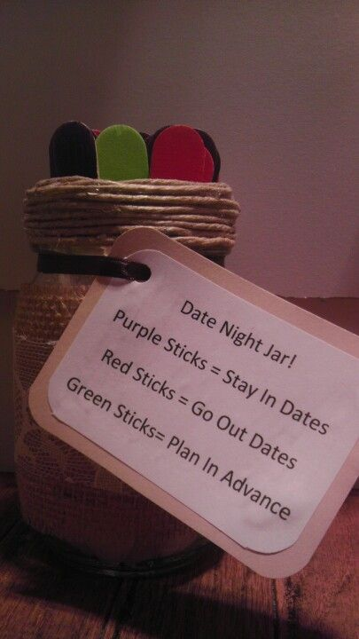 Date night jar. TIff is making one of these for my reception :)