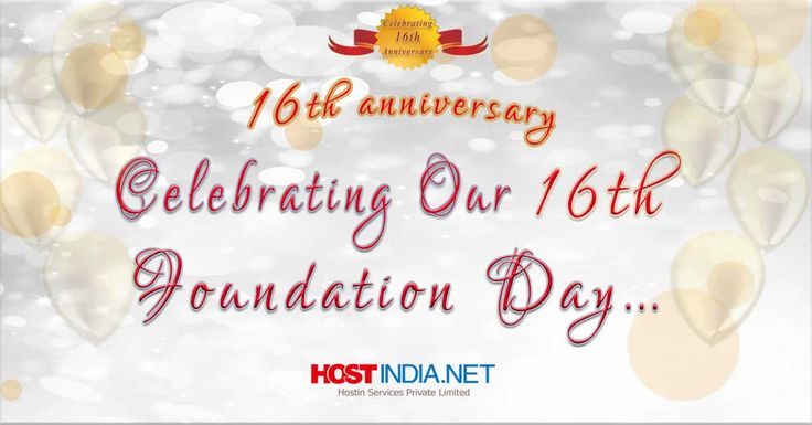 HOSTINDIA.NET celebrating it's 16th Anniversary, on this special occasion of akshaya tritiya, wishing you a success, happiness and a very good luck. Happy #Akshayatritiya‬