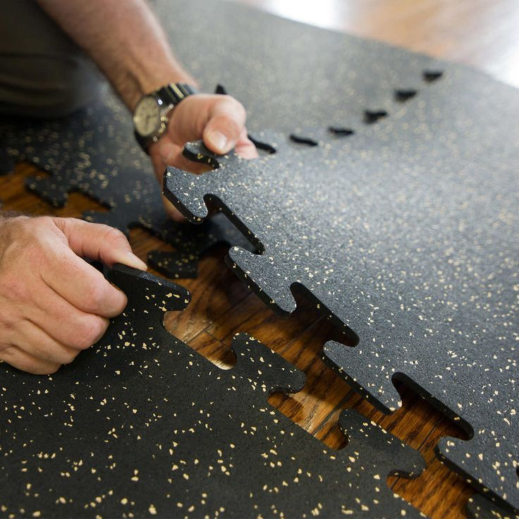 EZFlex Interlocking Recycled Rubber Side & Corner Floor