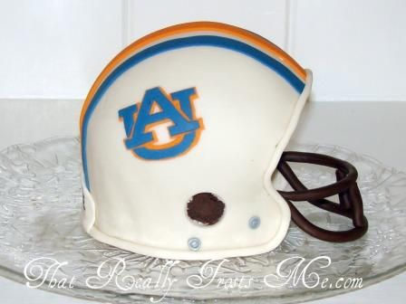 That Really Frosts Me: Football Helmet Cake - War Eagle!