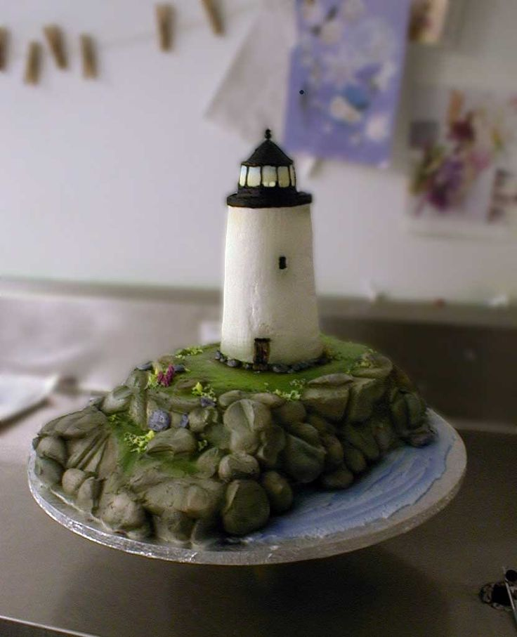 Lighthouse Cake with gorgeous detail
