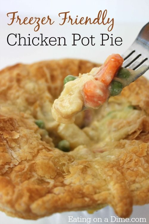These mini KFC chicken pot pies are very freezer friendly!! They are inexpensive to make, taste great, and they reheat perfectly for a busy weeknight meal.