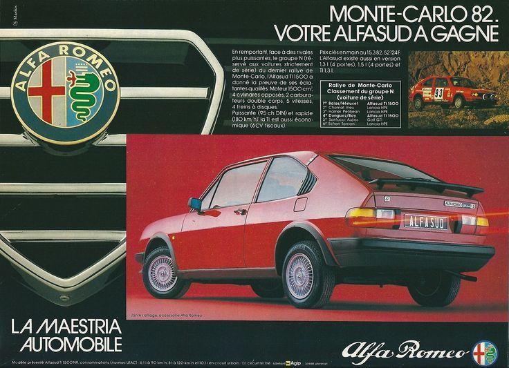 """Alfa Romeo - Alfasud MONTE-CARLO 1982 Pub. Sport-Auto Juin 1982 """""""