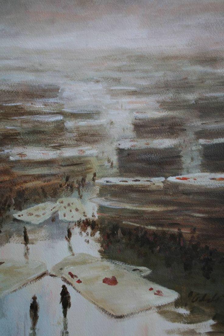 "Saatchi Art Artist Jerzy Cichecki; Painting, ""Gamblers"" #art"