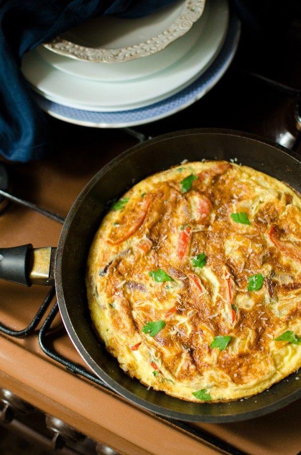 Фриттата со сладким перцем (Frittata ai Peperoni) - Foodclub — кулинарные рецепты с пошаговыми фотографиями