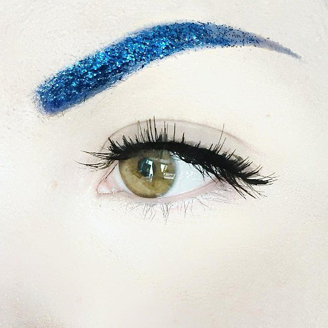Would you try the new glitter eyebrows beauty trend?