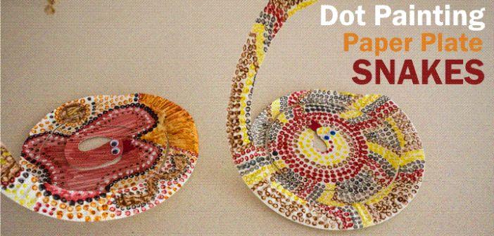 NAIDOC – Dot Painting Paper Plate Snake