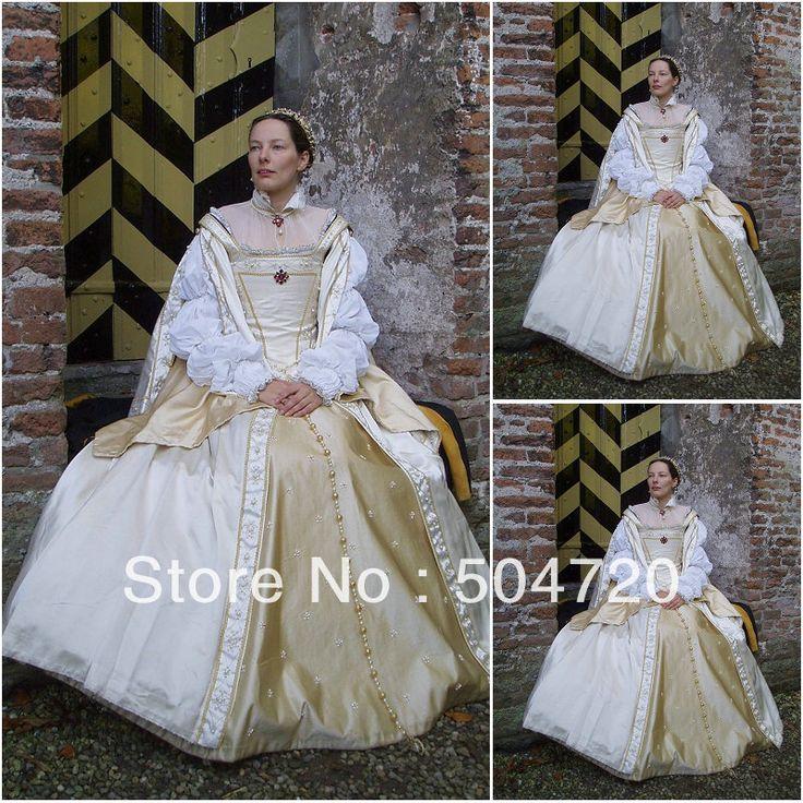 Freeshipping! 19 eeuw witte burgeroorlog southern belle jurk avondjurk/victorian jurken lolita/scarlett jurk us6-26 v-301 €141,83 + €53,03 verzendkosten