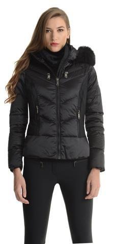 Goldbergh Kitsune Black Ski Jacket with Fur Hood