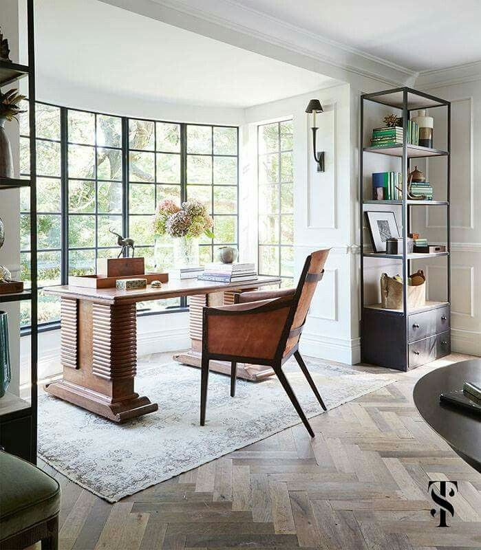 Tips For Redecorating Your Home Office: Wood & Darks On Pinterest