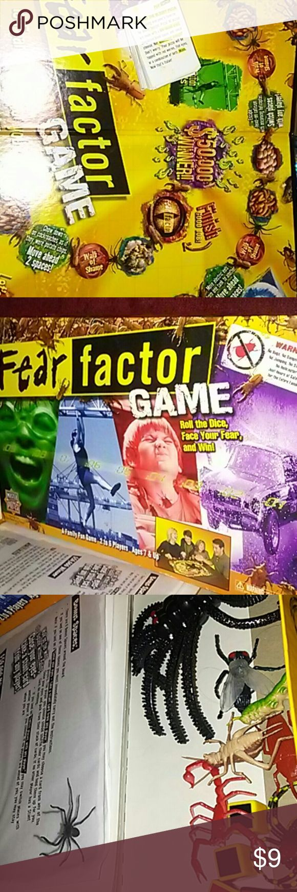 Fear Factor Game Is fear a factor for you? A family fun game 2 to 6 players. Ages 7 and up. Used twice. master pieces Accessories