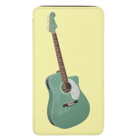 Guitar art print galaxy s5 pouch