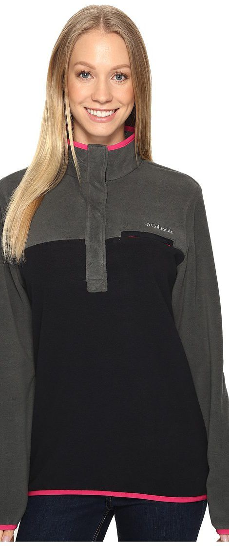 Columbia Mountain Side Pullover (Grill/Black) Women's Long Sleeve Pullover - Columbia, Mountain Side Pullover, 1684581-028, Apparel Top Long Sleeve Pullover, Long Sleeve Pullover, Top, Apparel, Clothes Clothing, Gift - Outfit Ideas And Street Style 2017