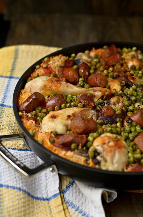 Get cooking with cans! Try this recipe for Chicken Chorizo Rice made with canned tomatoes.