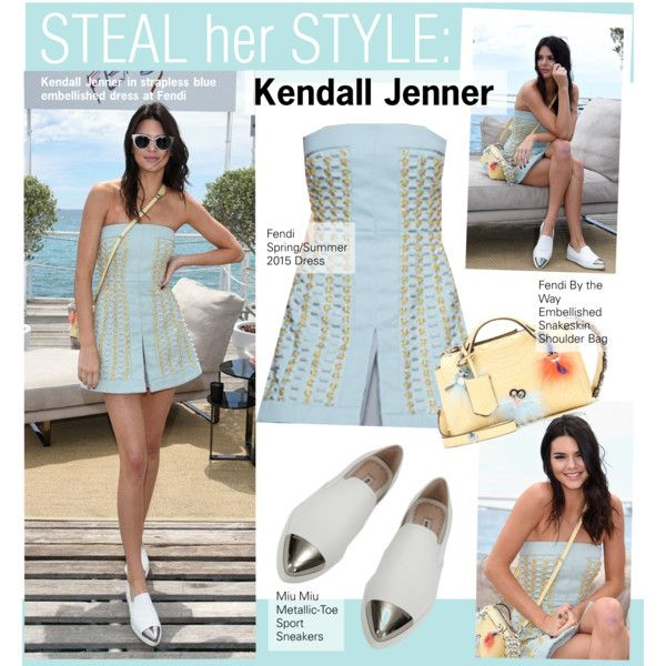 Steal Her Style-Kendall Jenner,Cannes by kusja on Polyvore featuring Miu Miu, Fendi, Stealherstyle, cannes, celebstyle, kendalljenner and Cannes2015