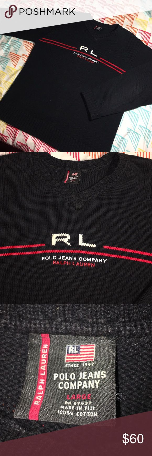 Ralph Lauren Polo Jeans Stitched RL Logo Sweater Awesome RL sweater - Men's Large - excellent condition Polo by Ralph Lauren Sweaters Crewneck