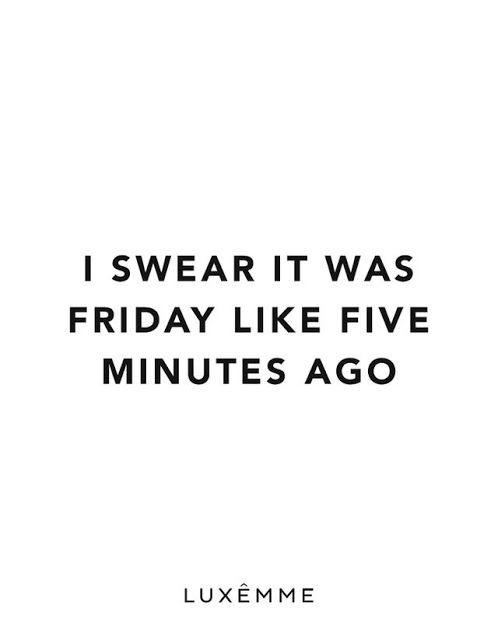 Monday? More