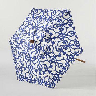 Limoge Timber Umbrella - mediterranean - outdoor umbrellas - World Market