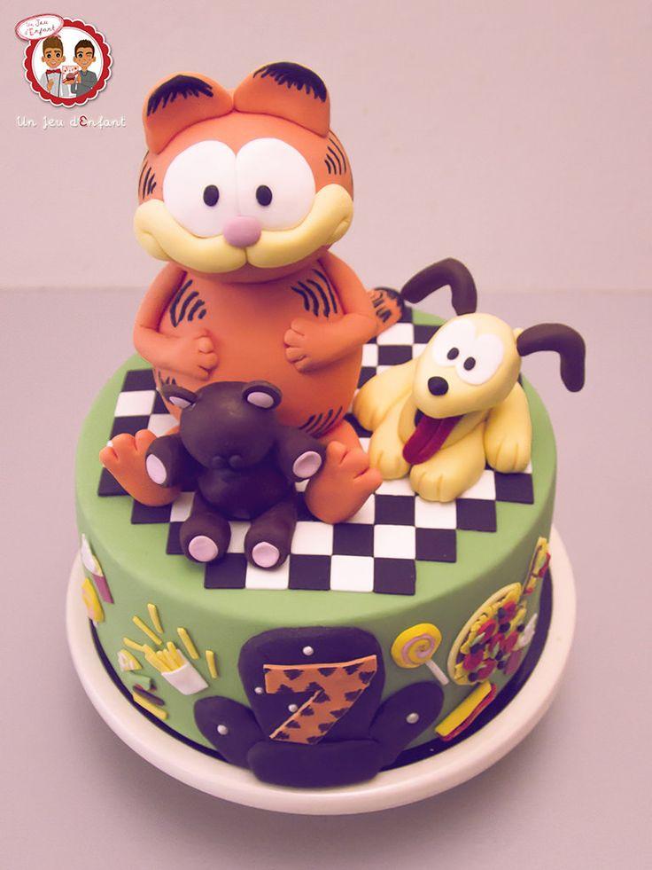 Garfield cake - Gâteau Garfield - Un Jeu d'Enfant Cake Design Nantes France