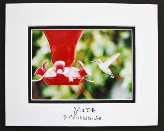 Hummingbird Inspirational Quote Matted 8x10 by JustforJoyCreations, $20.00
