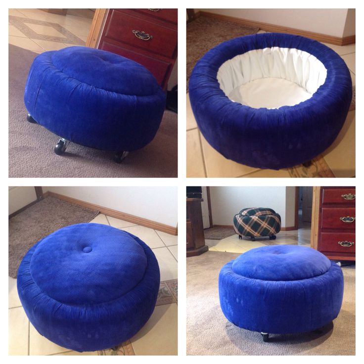 Recycled tyres ottoman