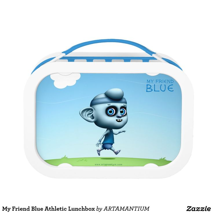 My Friend Blue Athletic Lunchbox