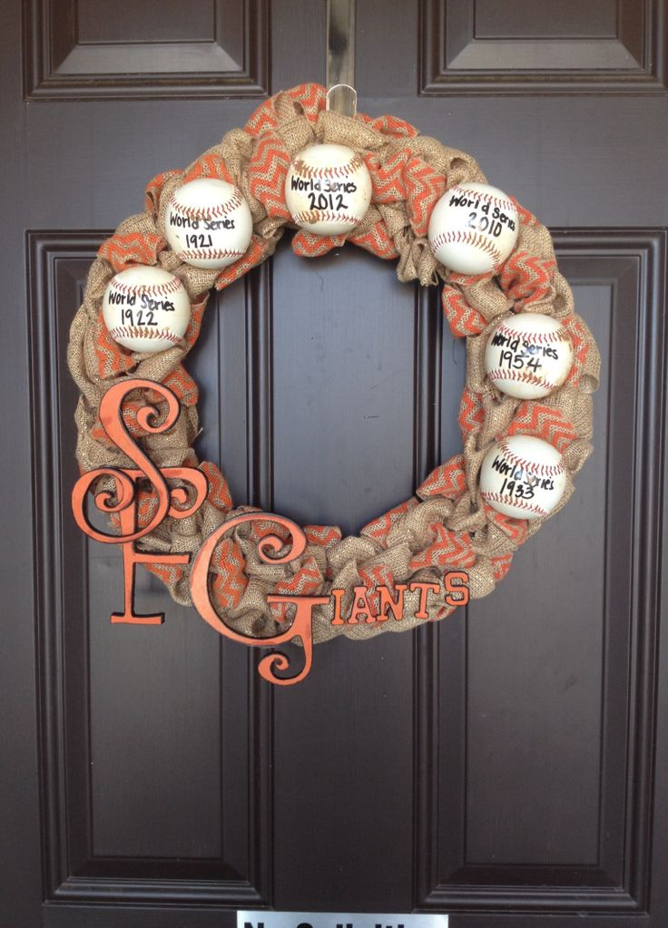 First time ever making a SF Giants wreath, never been so proud of myself!! =)