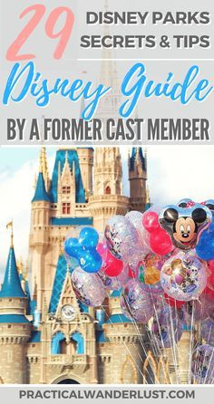 Disney secrets and tips for Disney World and Disneyland in California and Florida, USA. How to save money at Disney, how to avoid lines at Disney, secret backstage photos, and an epic Disney World Scavenger Hunt!