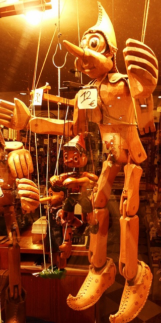 venice, italy, shopwindow, marionette ..