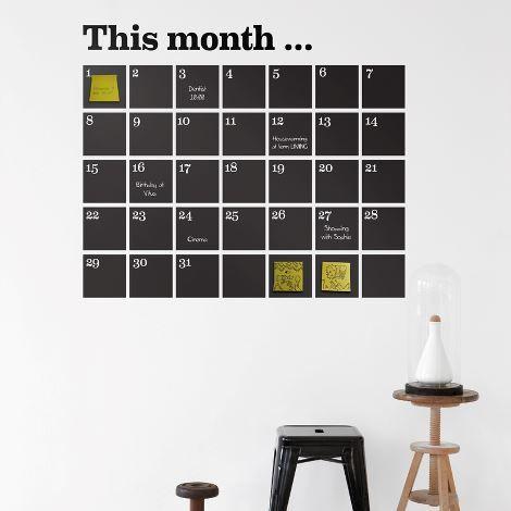 Calendar Wallsticker