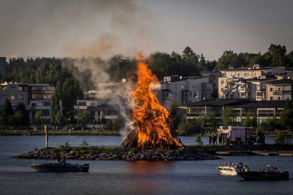 Midsummer bonfire, The Juhannus Eve | Lahti Finland