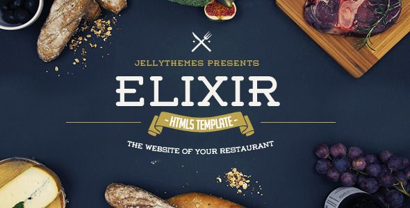 Elixir - Restaurant HTML Responsive Template - Restaurants & Cafes Entertainment