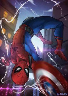 Spiderman Fan Art Civil War ver. by alanasdasd.deviantart.com on @DeviantArt
