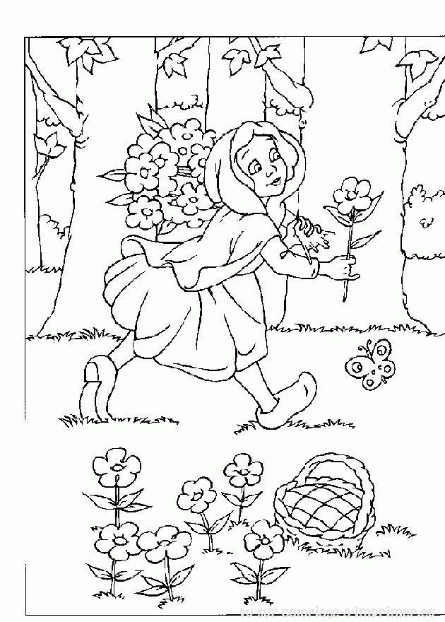 ... Petit Chaperon rouge > coloriage de coloriage Le Petit Chaperon ro